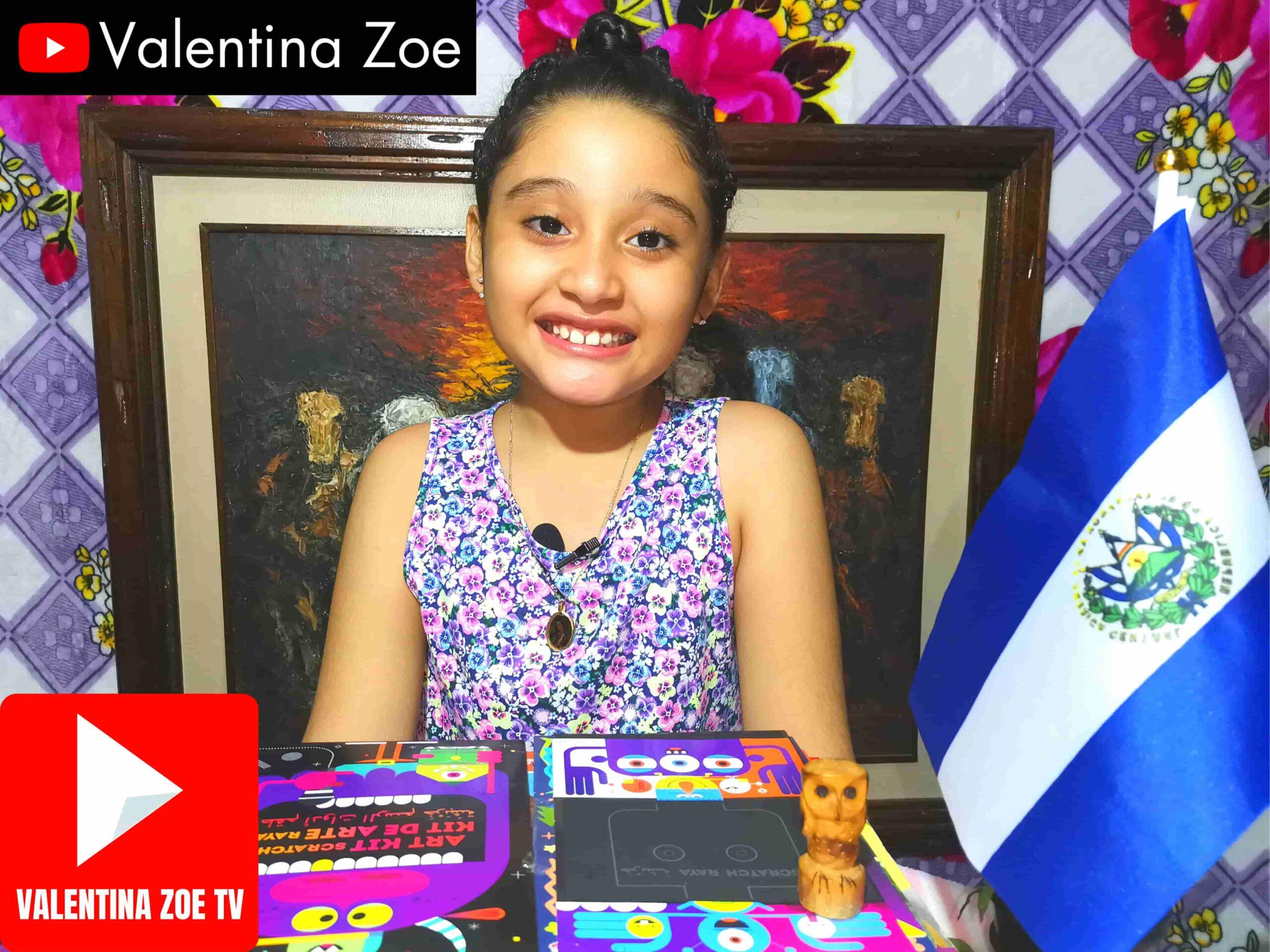 Valentina Zoe Símbolos Patrios El Salvador 2